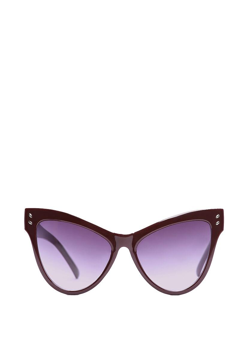 Bordowe Okulary Bold Scarlet