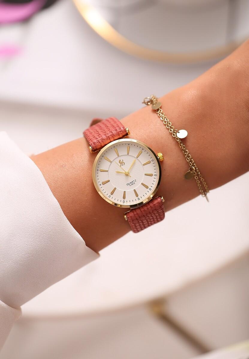 Różowo-Złoty Zegarek Classic Timer