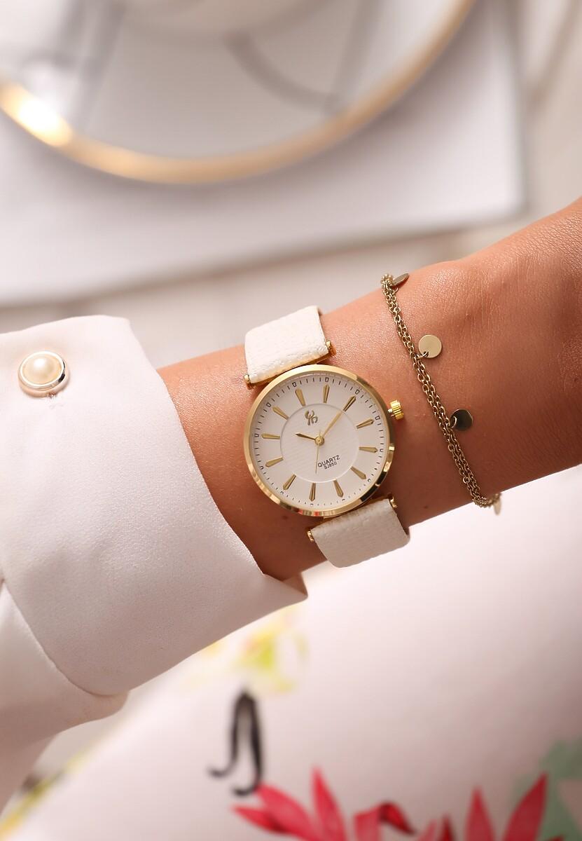 Biało-Złoty Zegarek Classic Timer
