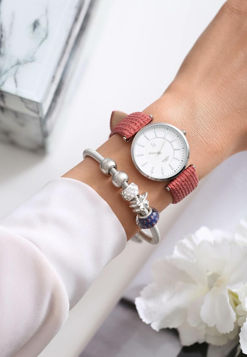 Różowy Zegarek Classy Act