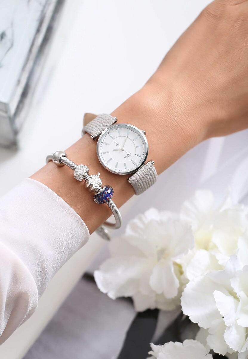 Srebrny Zegarek Classy Act