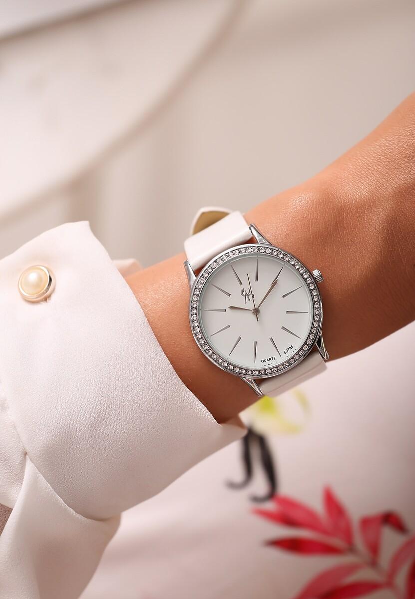 Biało-Srebrny Zegarek Millions Time