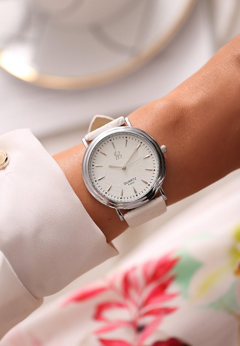 Biało-Srebrny Zegarek Timeless Power