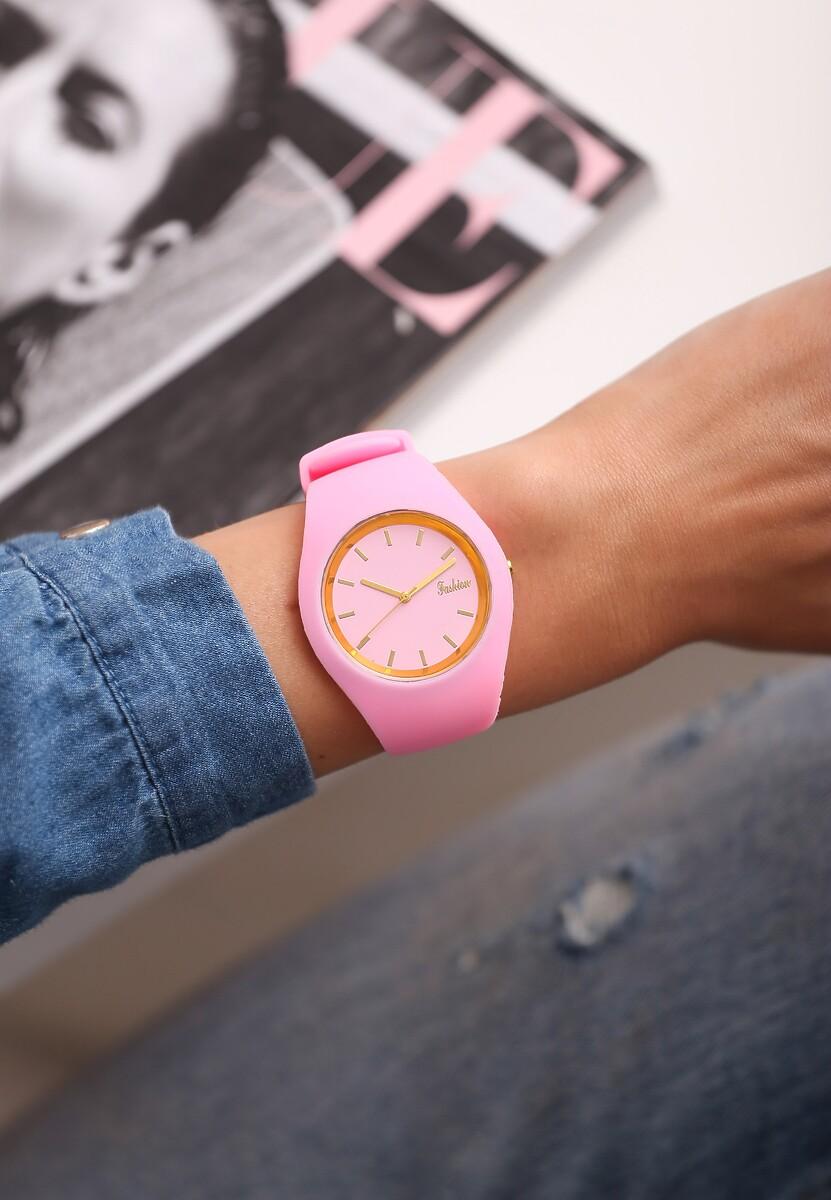 Różowy Zegarek Modern Time