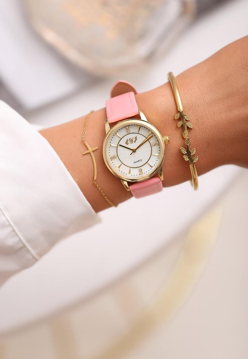Ciemnoróżowy Zegarek Last Time