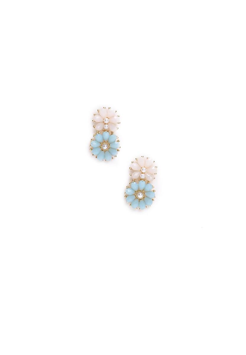 Niebieskie Kolczyki Lovely Flowers