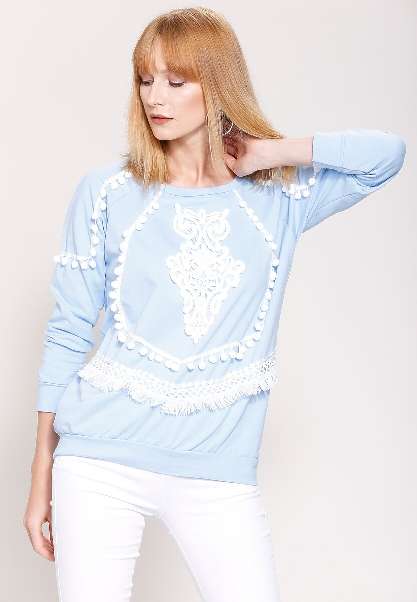 Niebieska Bluza White Robes