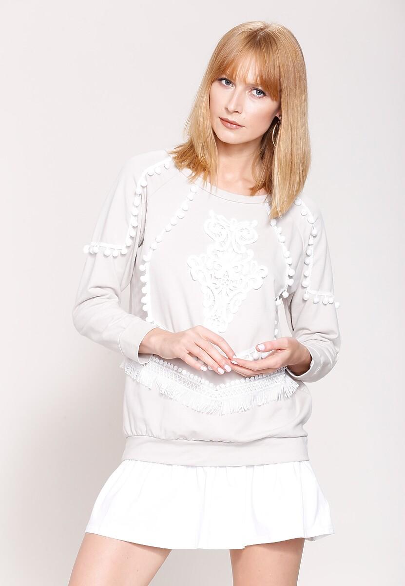 Beżowa Bluza White Robes