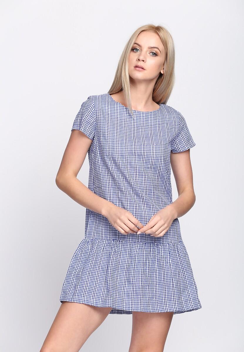Niebieska Sukienka Glamour Player