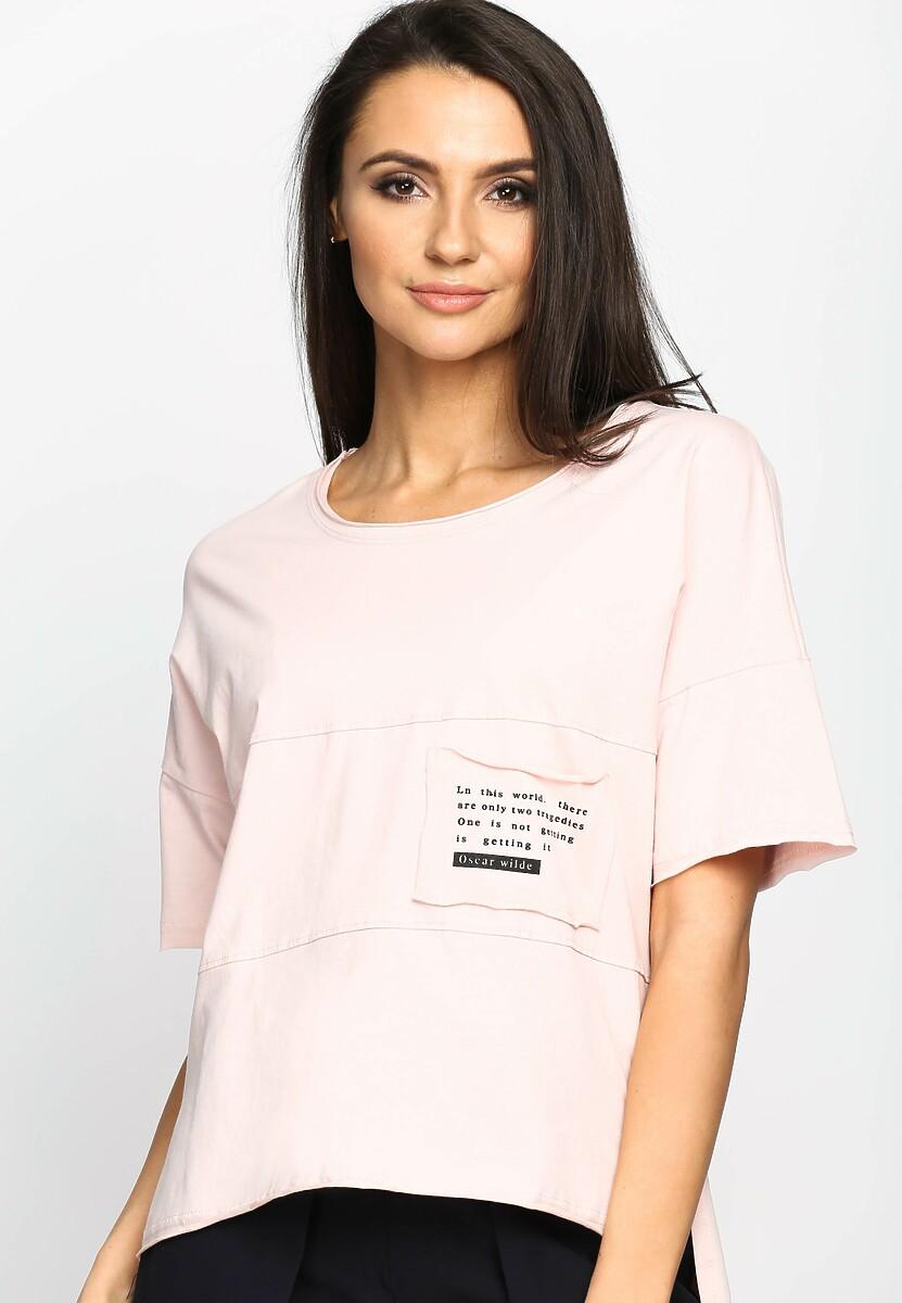 Różowa Bluzka Poetic Pocket