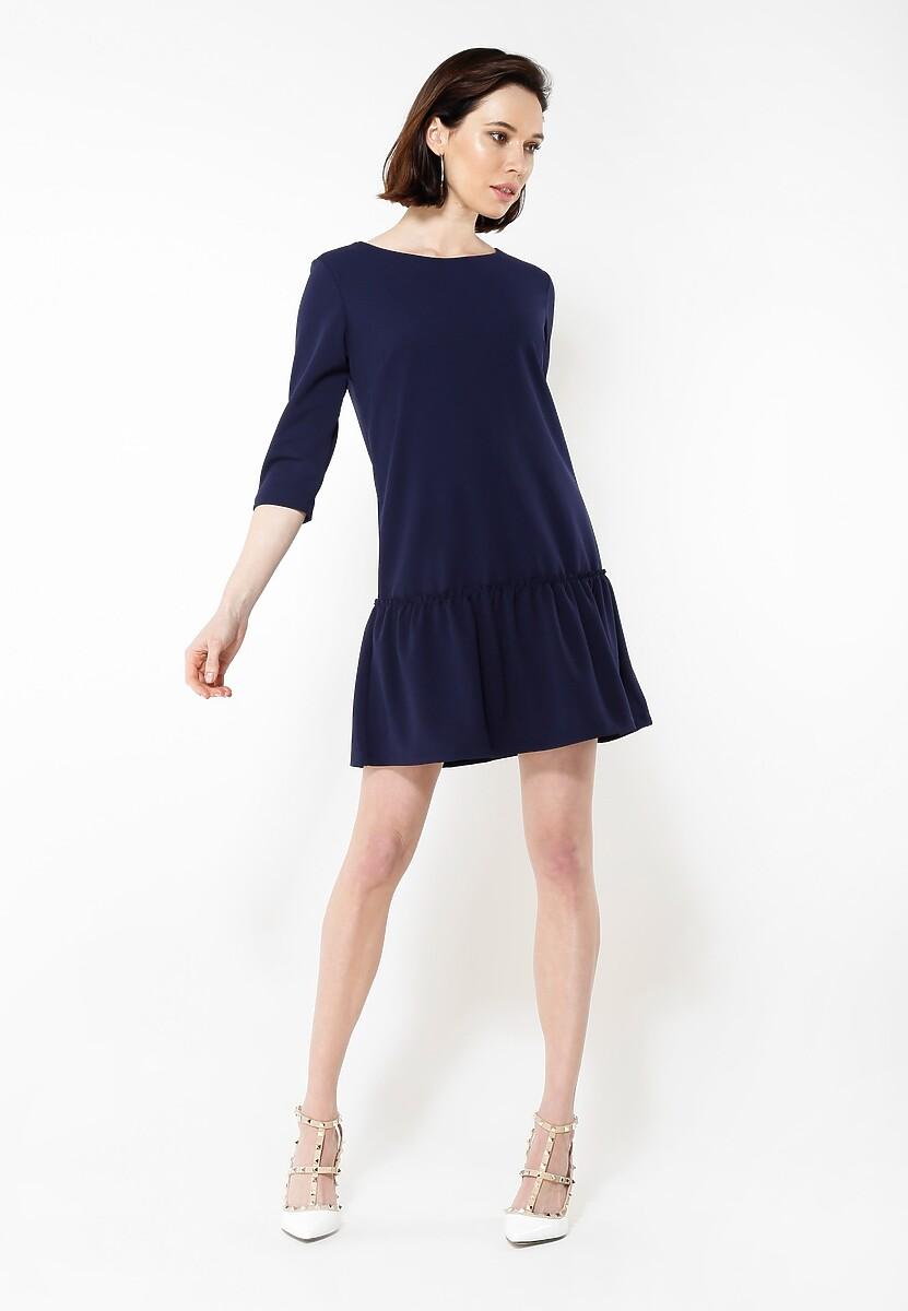Granatowa Sukienka In Minimalism