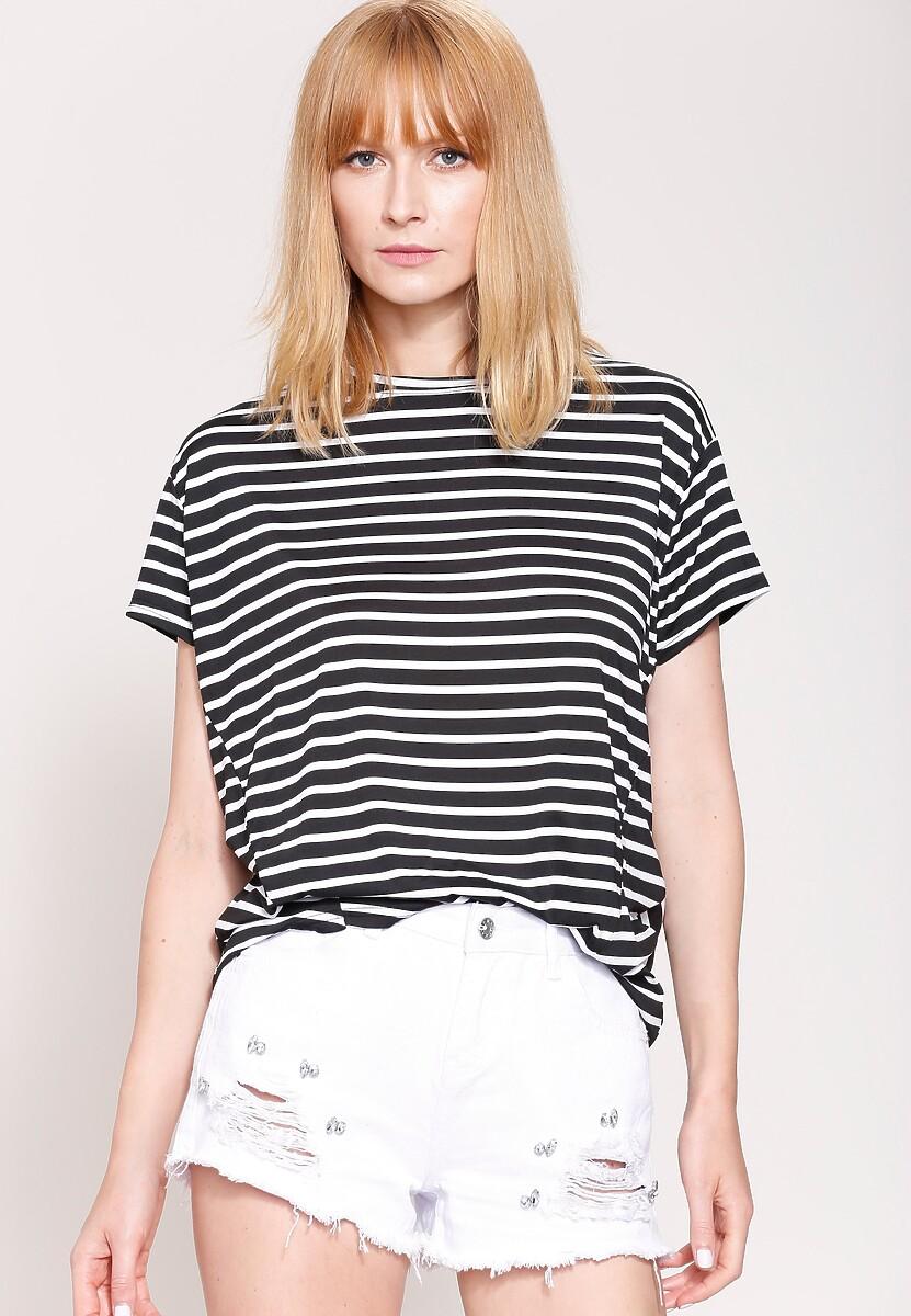 Czarny Bluzka I Love Stripes