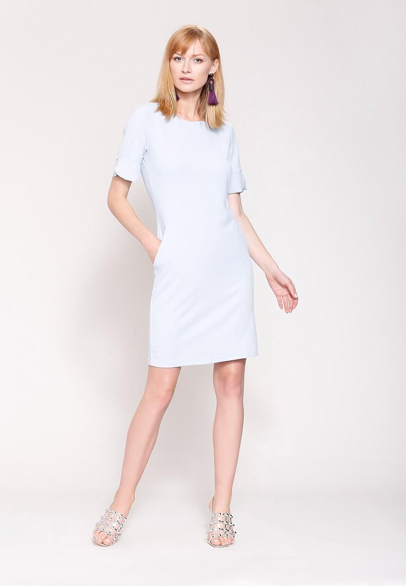 Niebieska Sukienka Chic And Simplicity