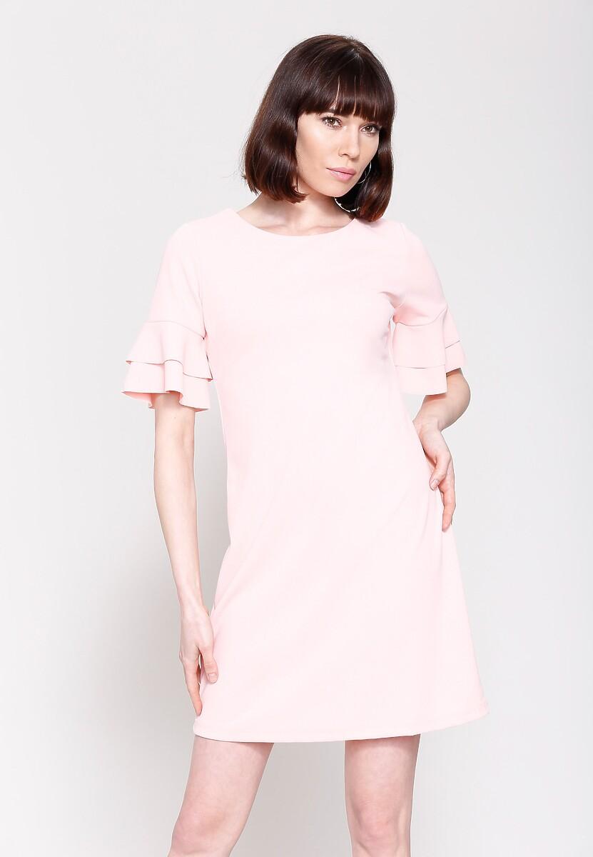 Różowa Sukienka Back To Piano