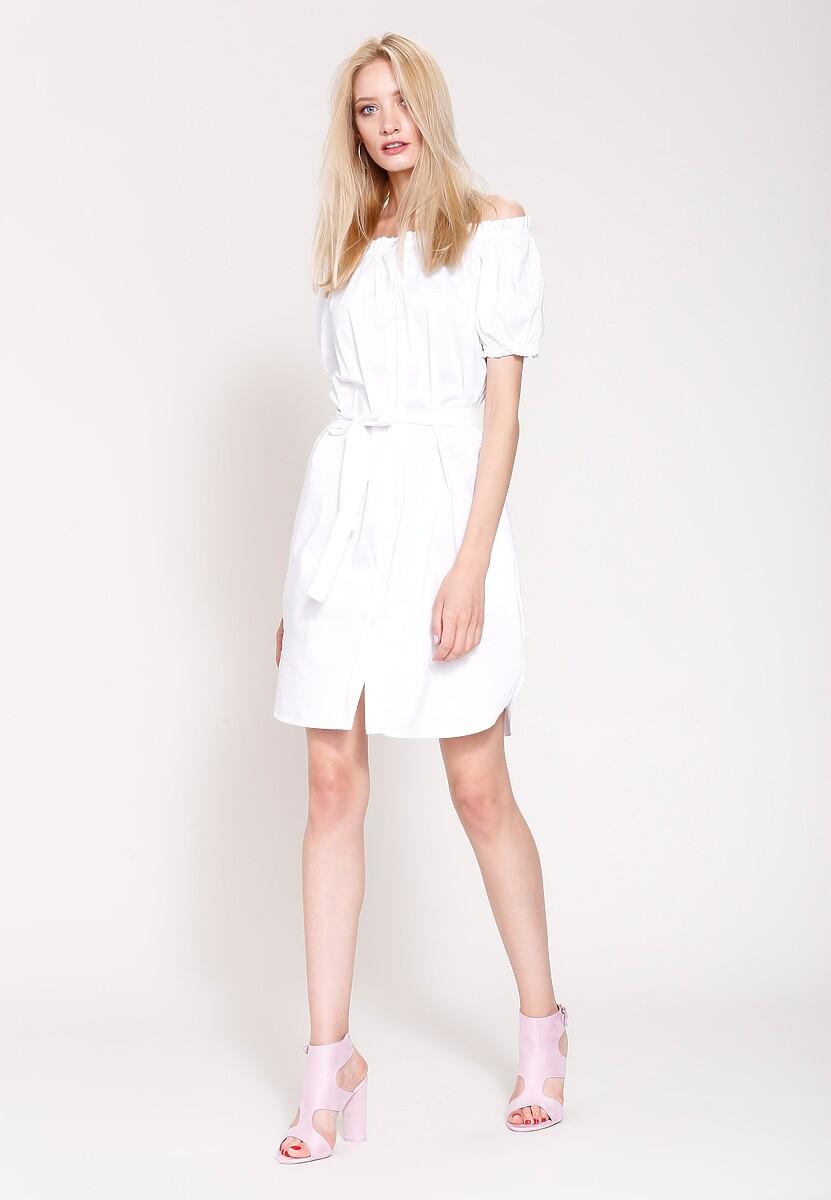 Biała Sukienka Danish Girl