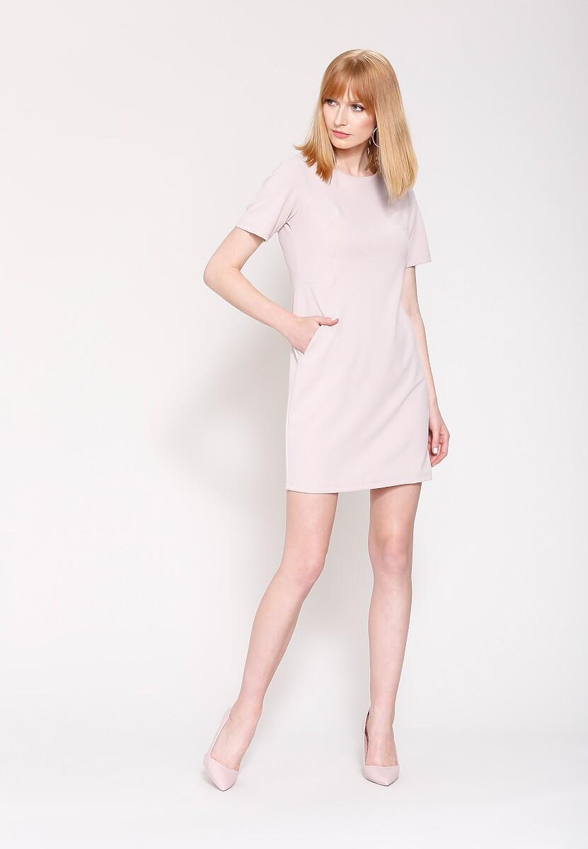 Beżowa Sukienka  Miss Right