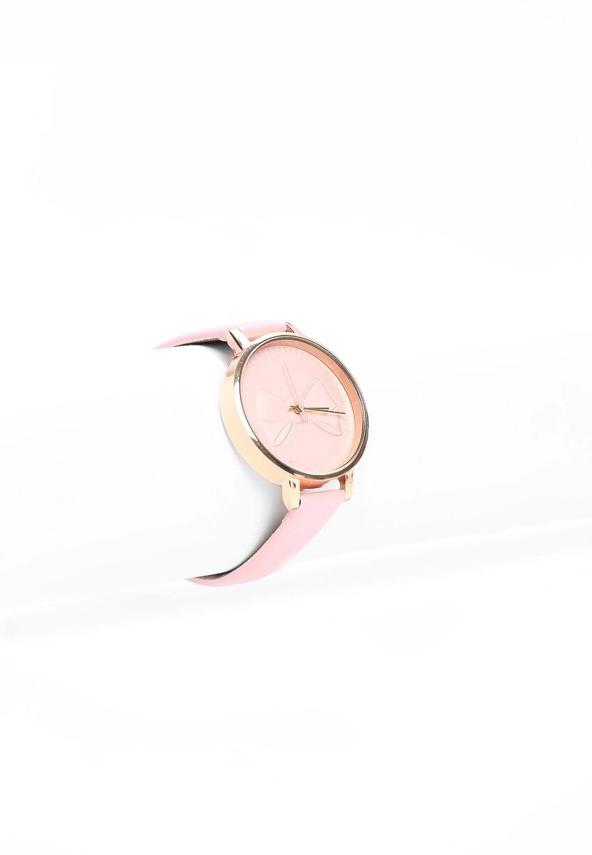 Różowy  Zegarek Head Of Time