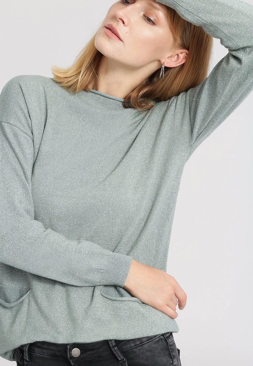 Jasnozielony Sweter Full Of Happiness