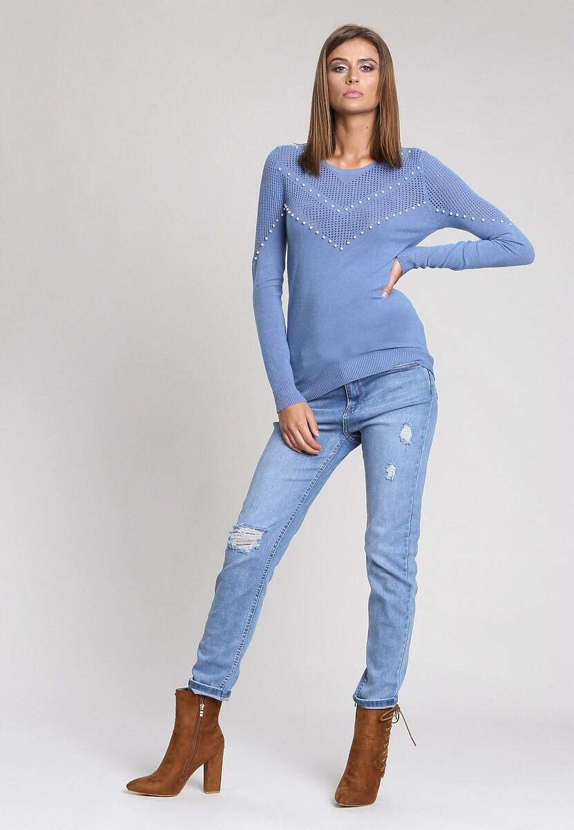 Niebieski Sweter Waiting Time