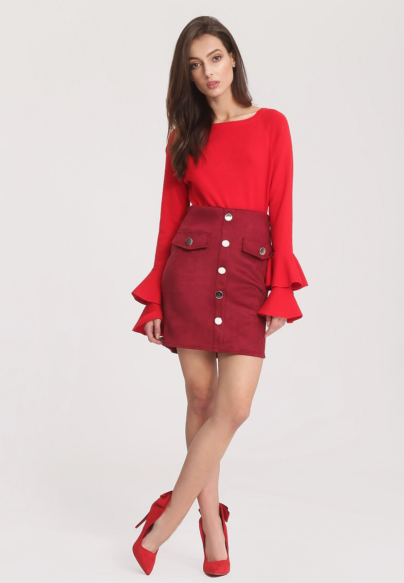 Czerwony Sweter Fantastic Woman