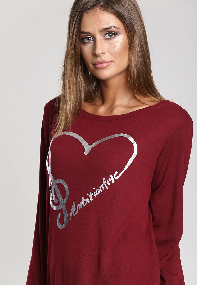 Bordowa Bluzka Heart In Me