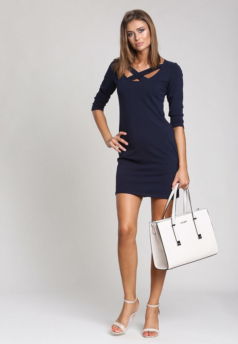 Granatowa Sukienka Perfect Silhouette