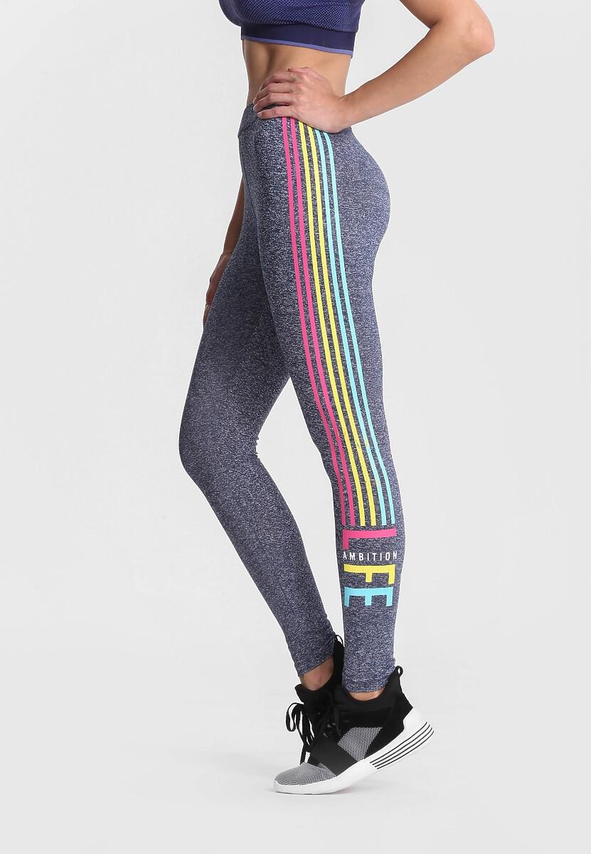 Granantowe Legginsy Rainbow Stripes