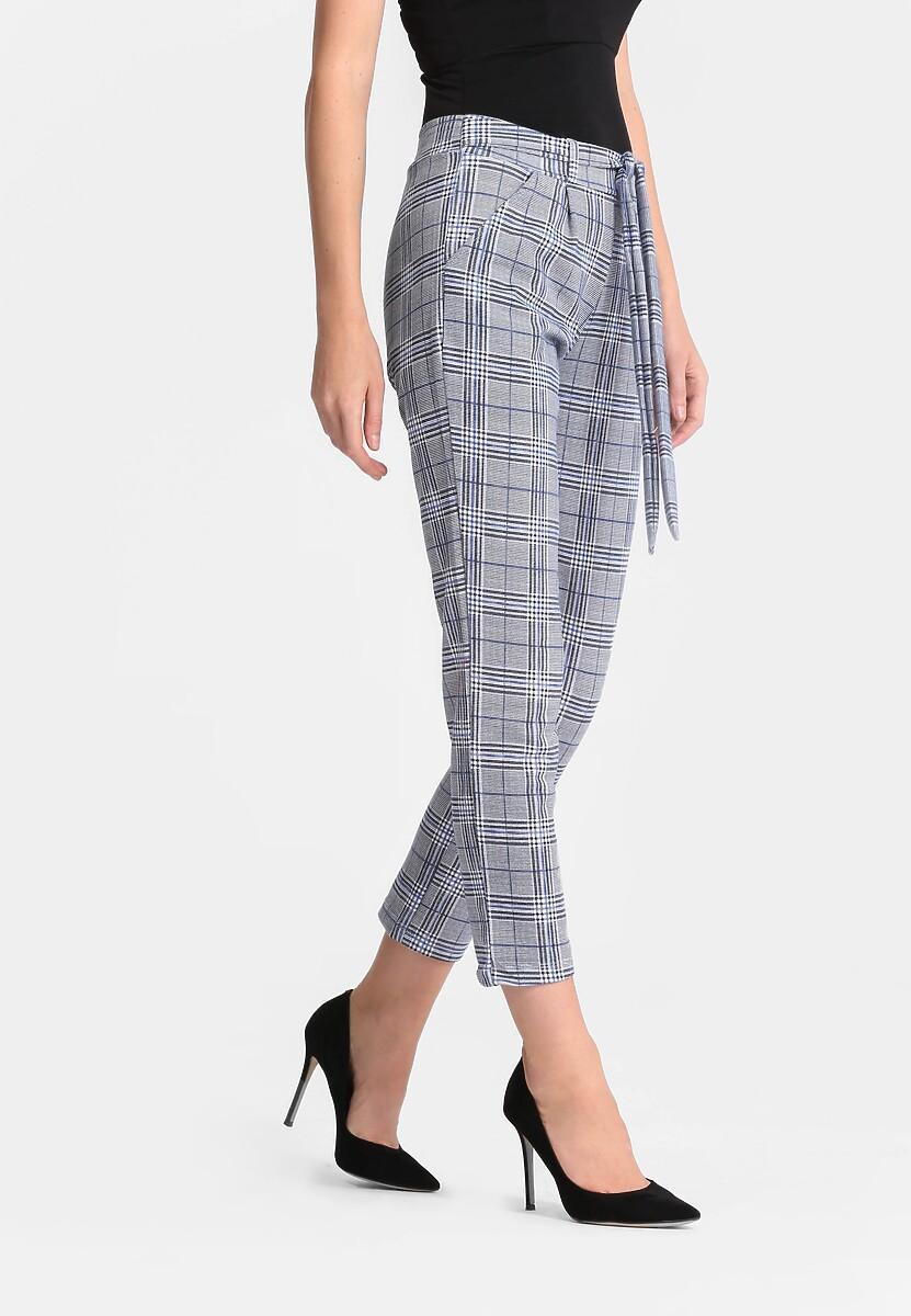 Szaro-Granatowe Spodnie Elegance Cut