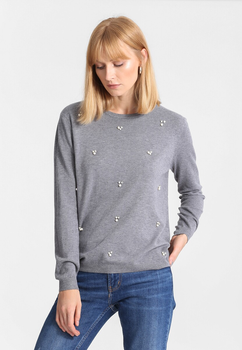Ciemnoszary Sweter Tiny Stones