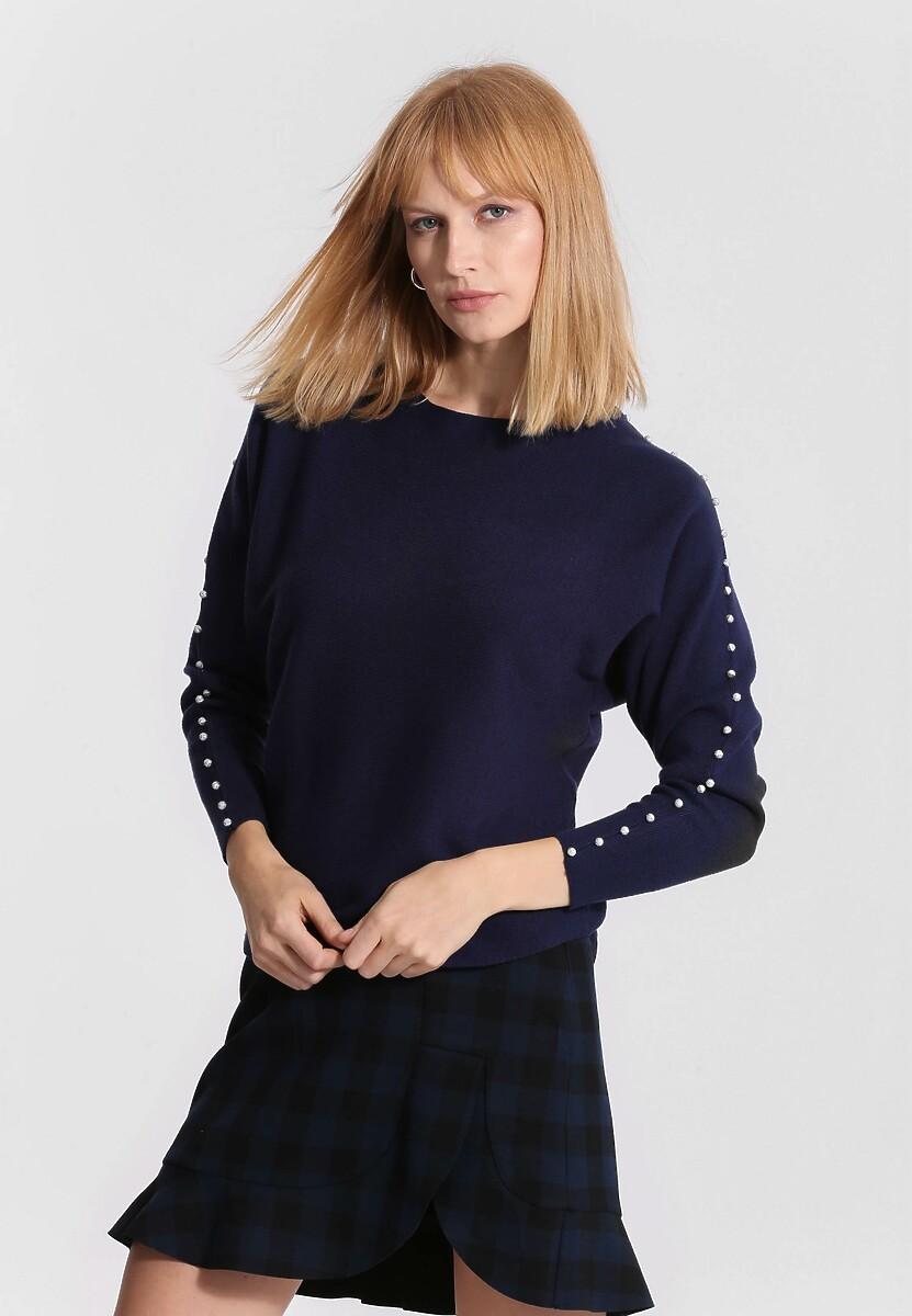 Granatowy Sweter Around Us