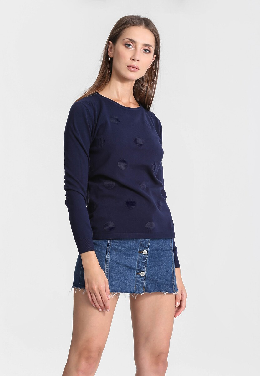 Granatowy Sweter Your Choice
