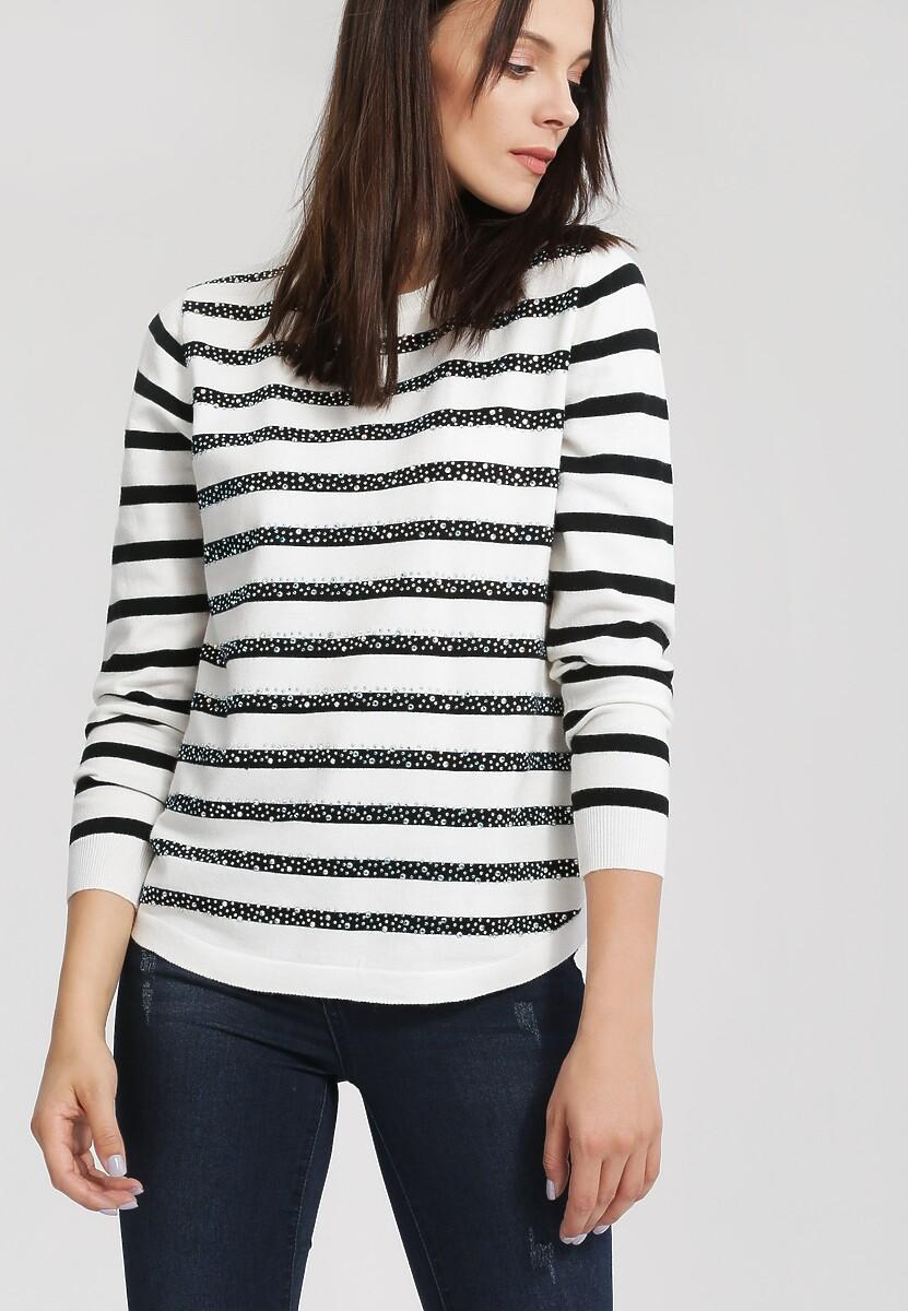 Biało-Czarny Sweter Bright