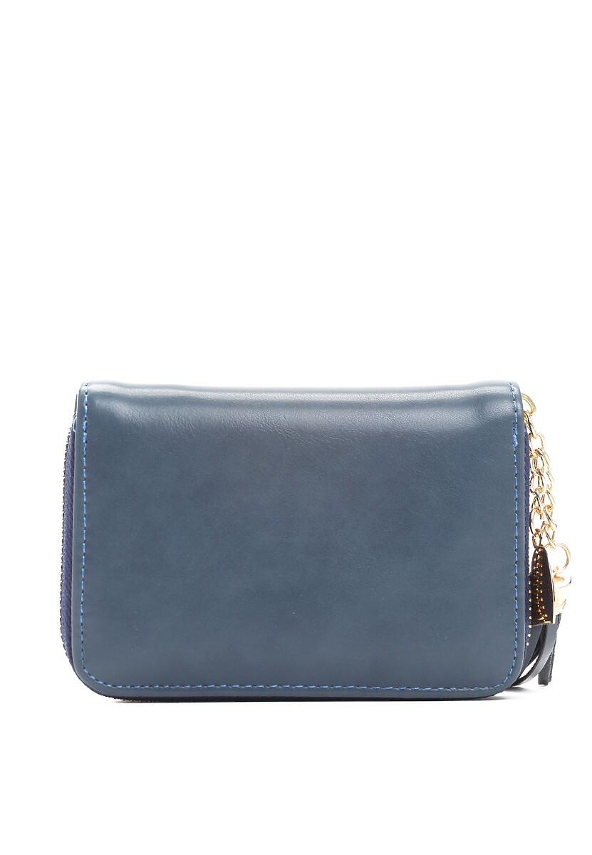 Niebieskie Portfel Smooth Fabrics