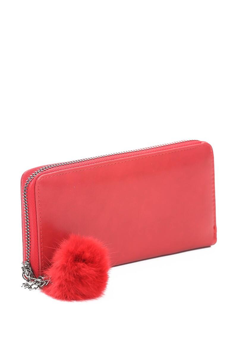Czerwony Portfel Furry Chic