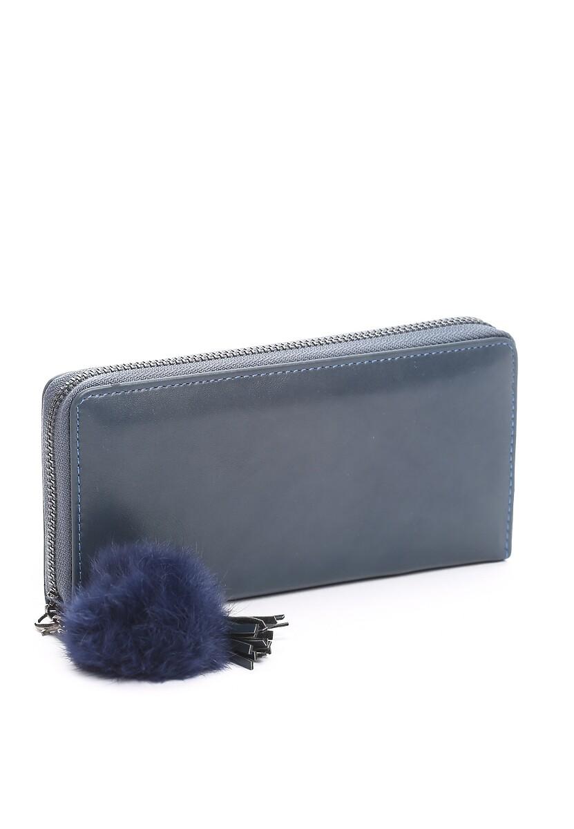 Niebieski Portfel Furry Chic