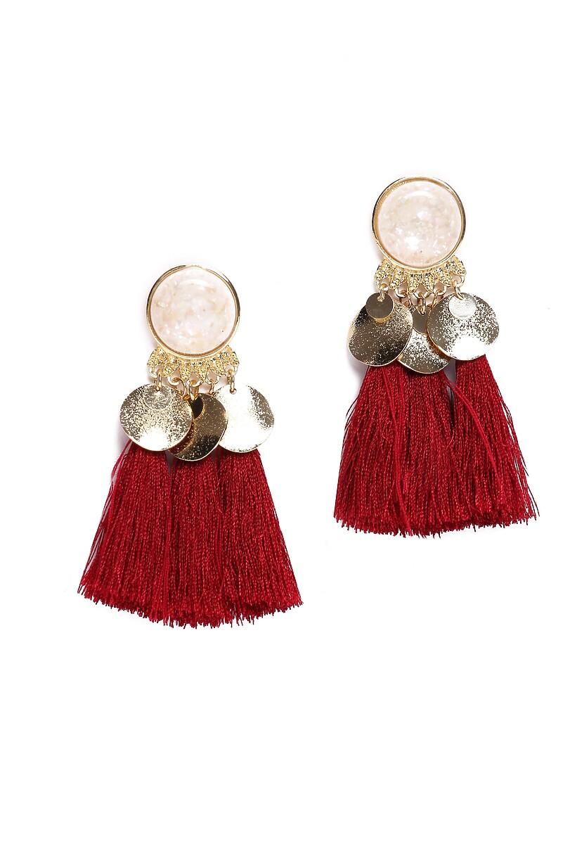 Czerwone Kolczyki Baroque Pearl
