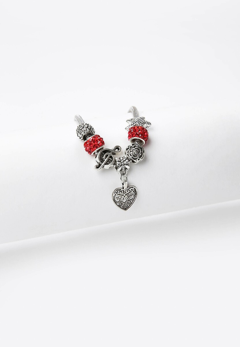 Czerwona Bransoletka Charms Of Love