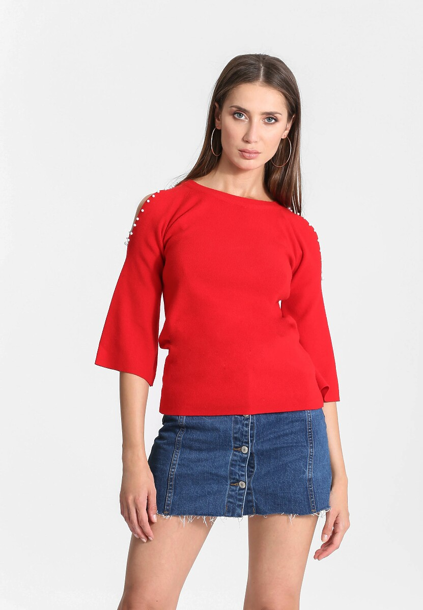 Czerwony Sweter Empathy For You