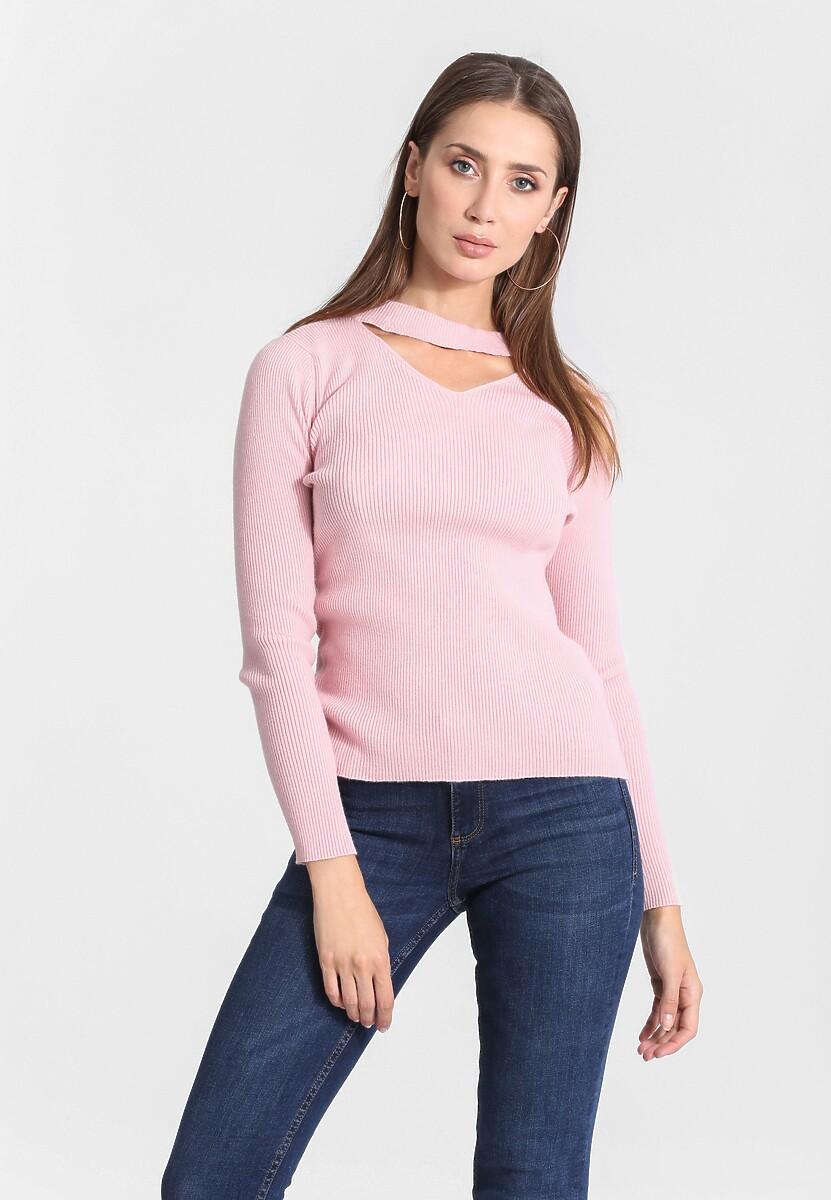 Różowy Sweter Triangle Shape