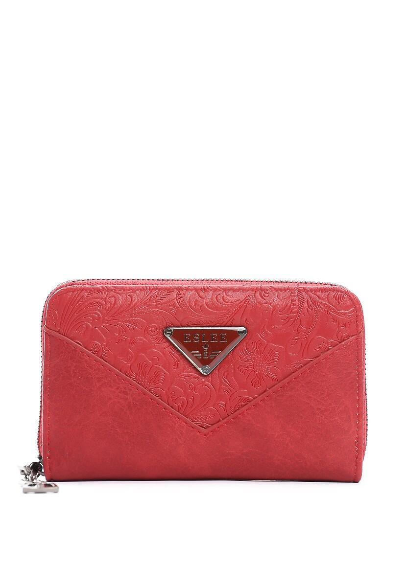 Czerwony Portfel Elegance Triangle