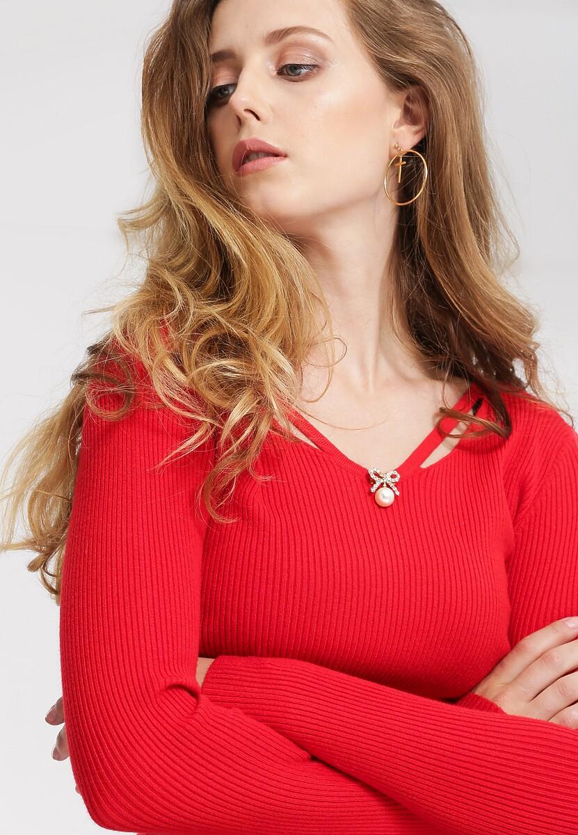 Czerwony Sweter Always Be Happy