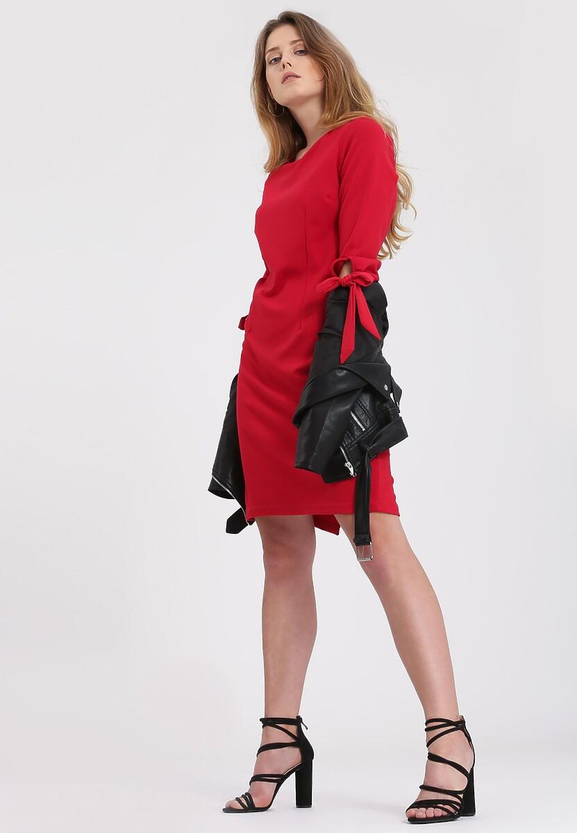 Czerwona Sukienka Express Sensitivity