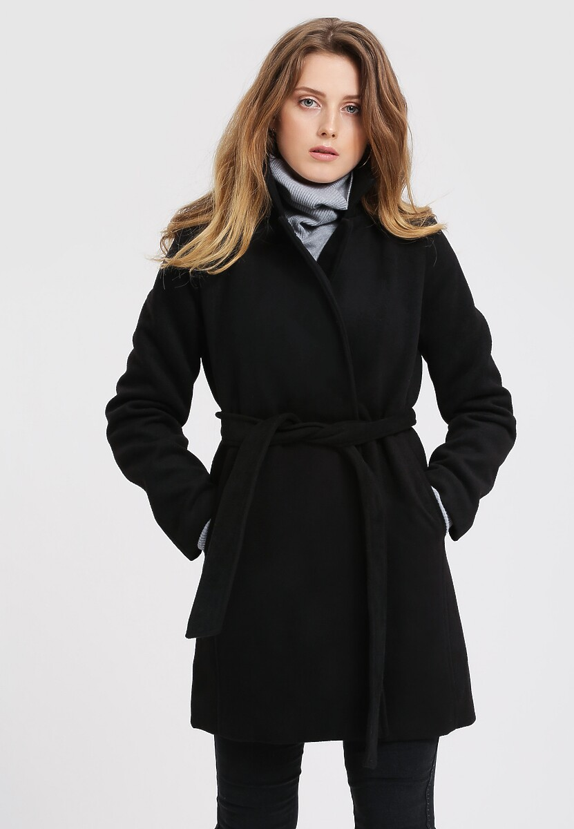 Czarny Płaszcz Stop The Shiver