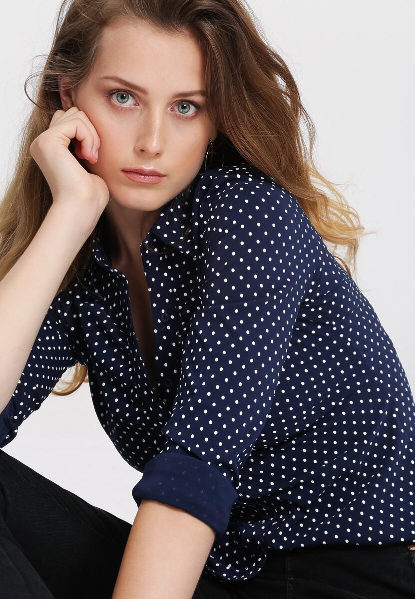 Granatowa Koszula Love Dots