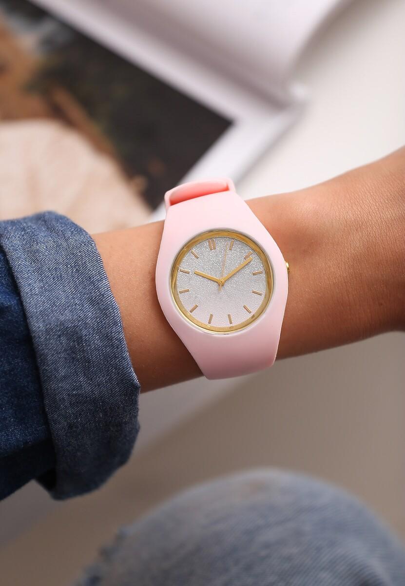 Jasnoróżowy Zegarek Yielding