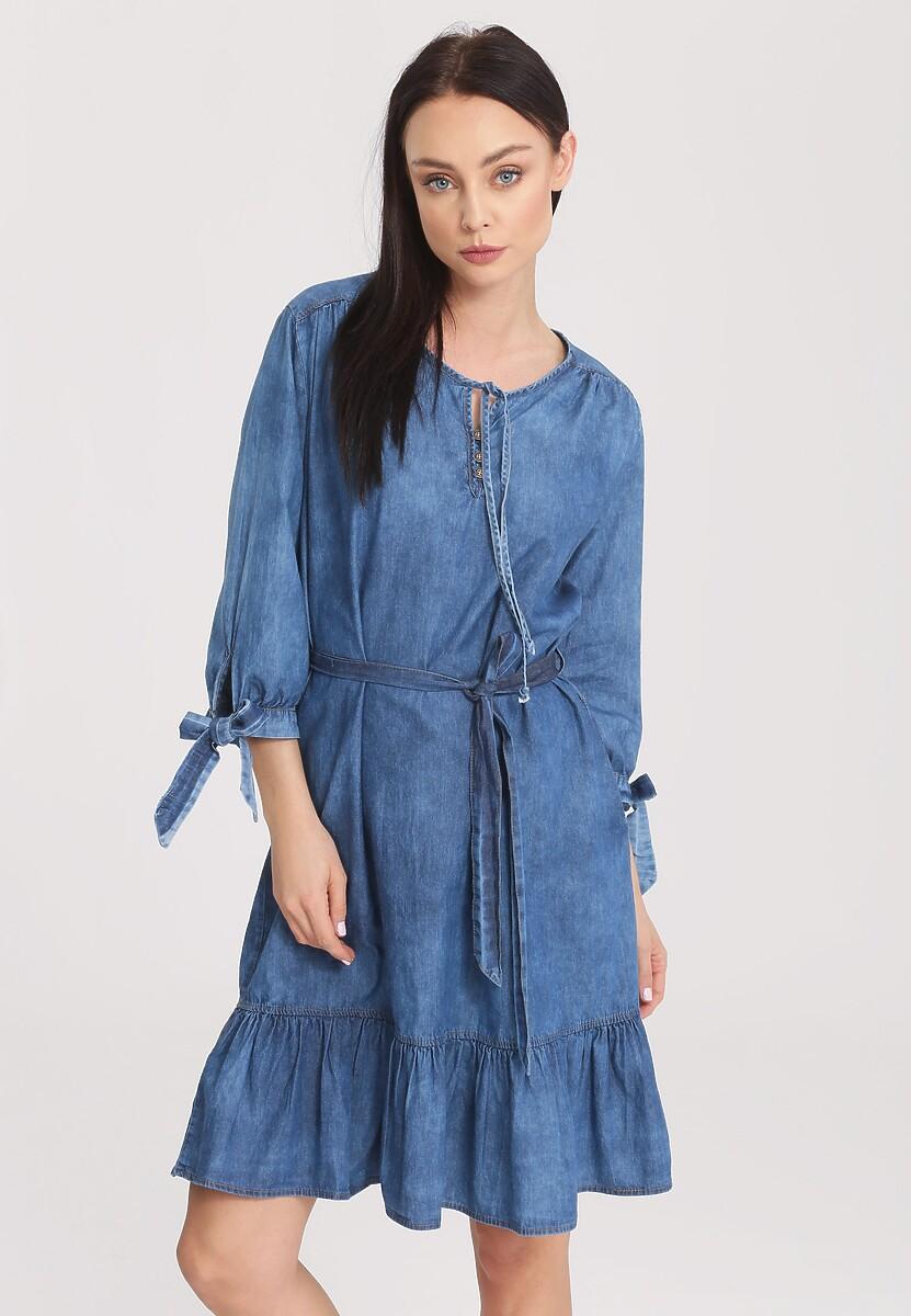 Niebieska Sukienka Noblesse