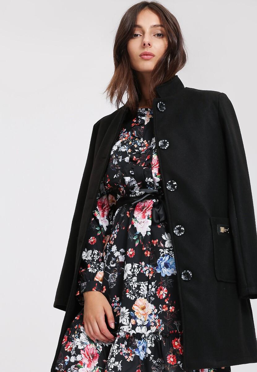 Czarny Płaszcz My Lucky Day