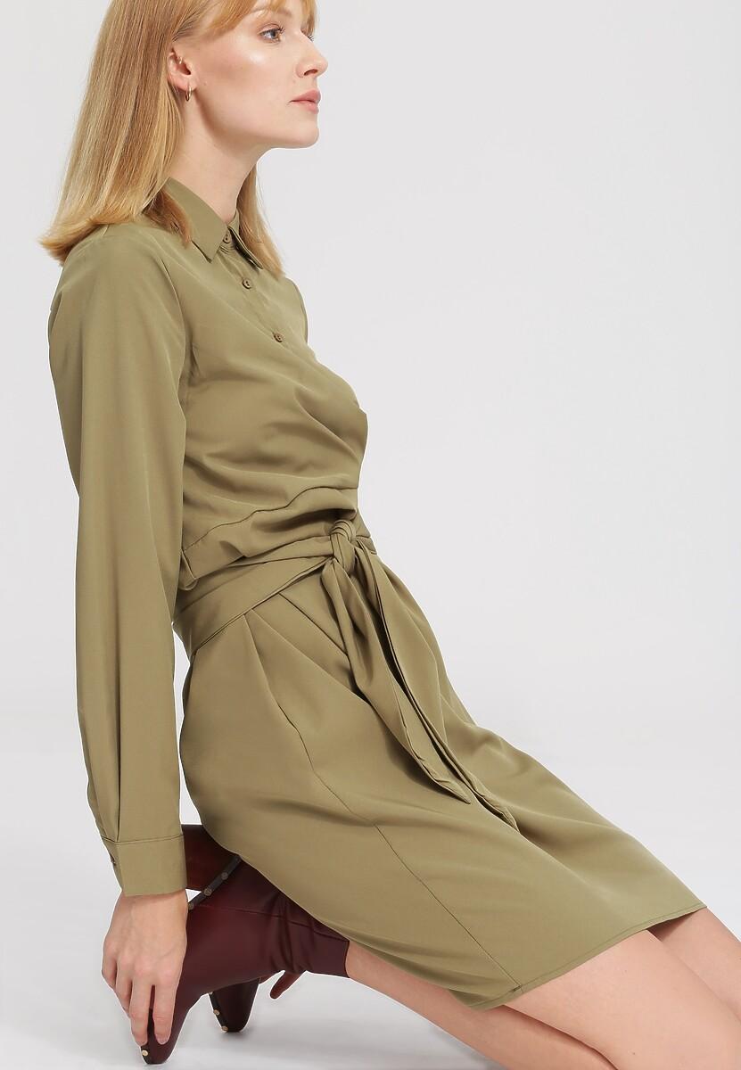 Khaki Sukienka By Your Side