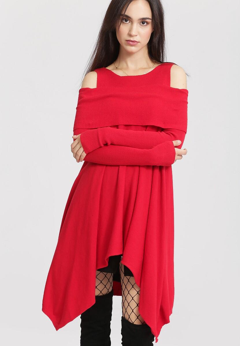 Czerwony Sweter Just Feel Me
