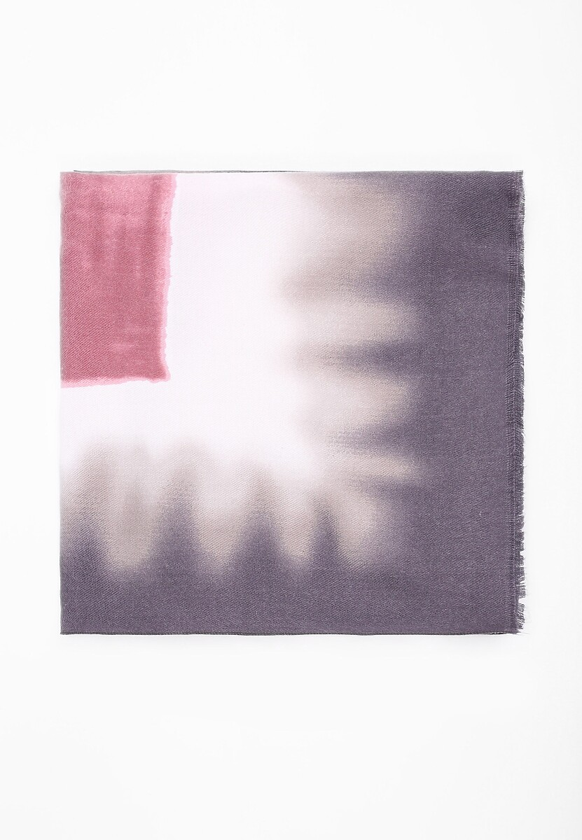 Szaro-Różowy Szalik Blurred Colors
